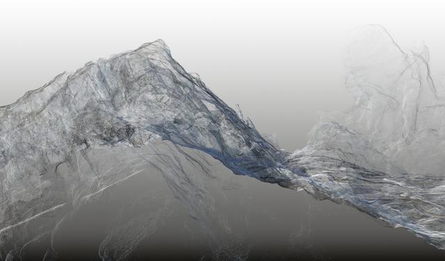 , 'Continuous Topography, Argentière glacier no. 01,' 2016, SCHEUBLEIN + BAK