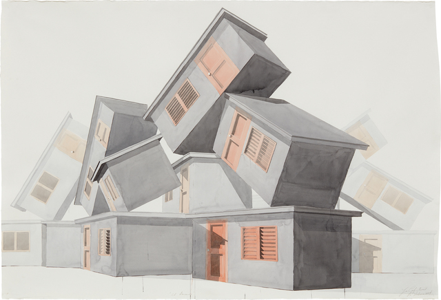 Los Carpinteros, 'El barrio', 2004, Drawing, Collage or other Work on Paper, Watercolor on paper, Phillips