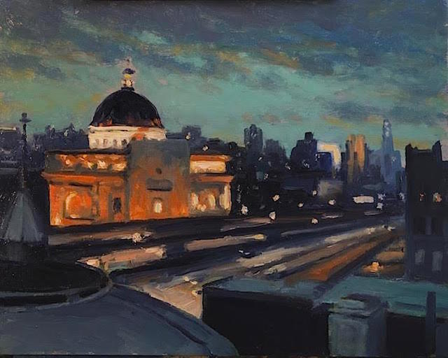 Richard Rosenblatt, 'Williamsburg Eve', 2020, Painting, Oil, The Galleries at Salmagundi