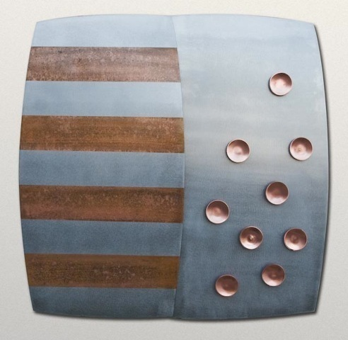 , 'Copper Dots and Stripes Wall Plaque,' , Zenith Gallery