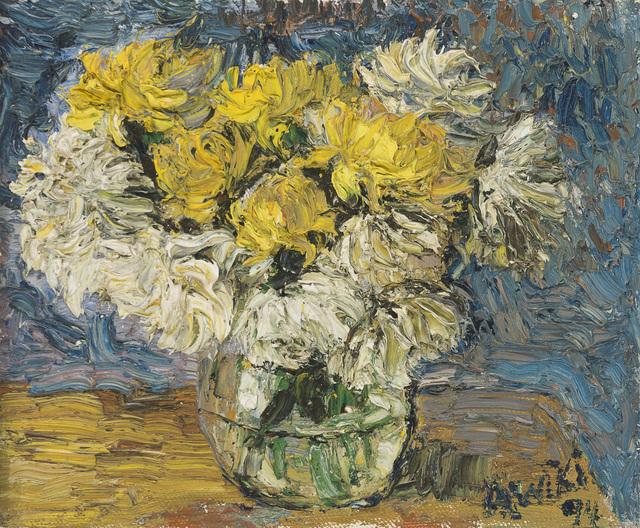 Awiki, 'Flowers still life', 1994, John Moran Auctioneers