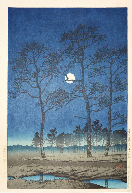 , 'Winter Moon on Toyama Plain,' 1931, Ronin Gallery