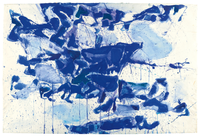 , 'Composition White on Blue,' 1960, Bernard Jacobson Gallery
