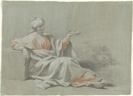 Johann Justin Preissler, 'Young Woman with a Bowl, Seated Outdoors', 1733, National Gallery of Art, Washington, D.C.
