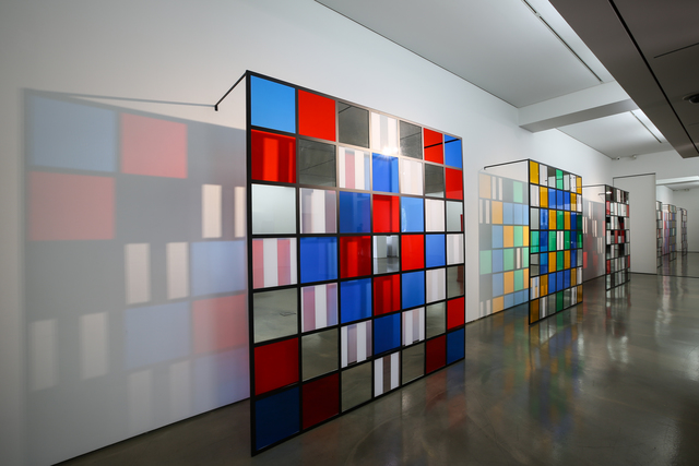 , '(L) The grid with 49 squares, situated work, Seoul No.9 (M) The grid with 49 squares, situated work, Seoul No.8 (R) The grid with 49 squares, situated work, Seoul No.7,' 2015, 313 Art Project