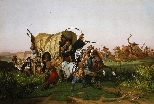 J.M. Boundy, 'The Weak Never Started, October 19, 1861 after Charles Ferdinand Wimar', 1861, Blanton Museum of Art