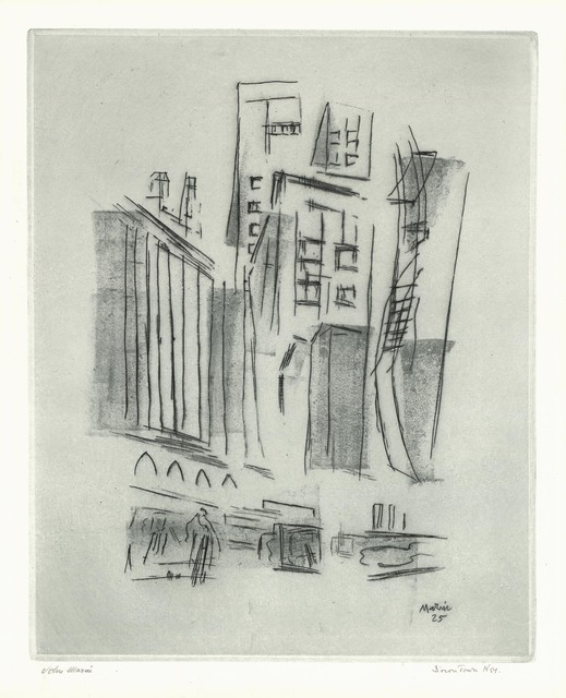 John Marin, 'Downtown Synthesis.', 1925, The Old Print Shop, Inc.