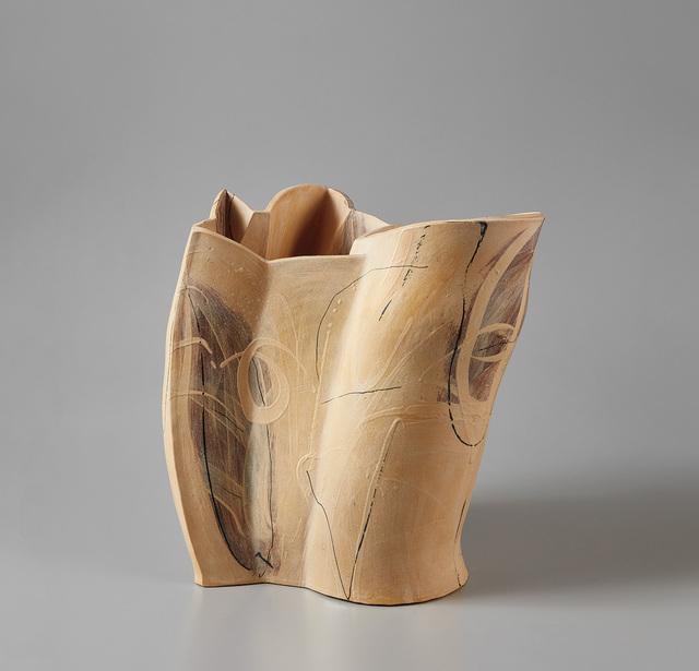 "Alison Britton, '""Pale Double Pot""', 1995, Design/Decorative Art, Earthenware, painted with slips and pigments, clear matte glaze., Phillips"