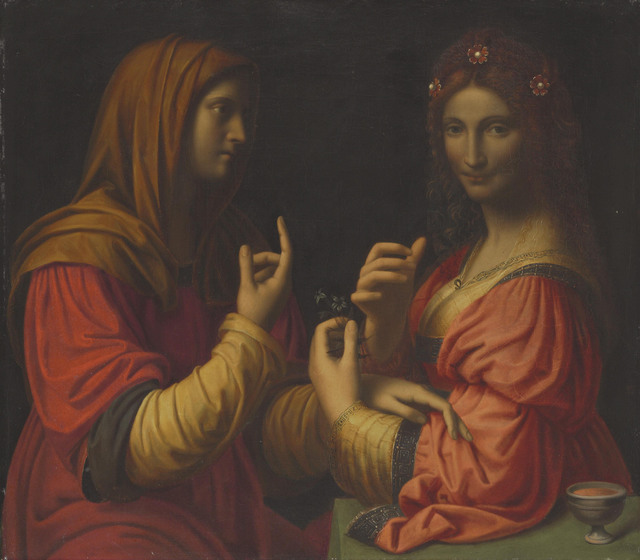 After Bernardino Luini, 'Vanity and Modesty', Painting, Oil on canvas, unlined, Christie's Old Masters