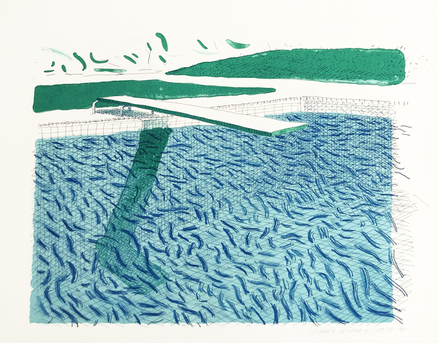 , 'Lithographic Water Made of Lines, Crayon, and a Blue Wash,' 1978-1980, Susan Sheehan Gallery