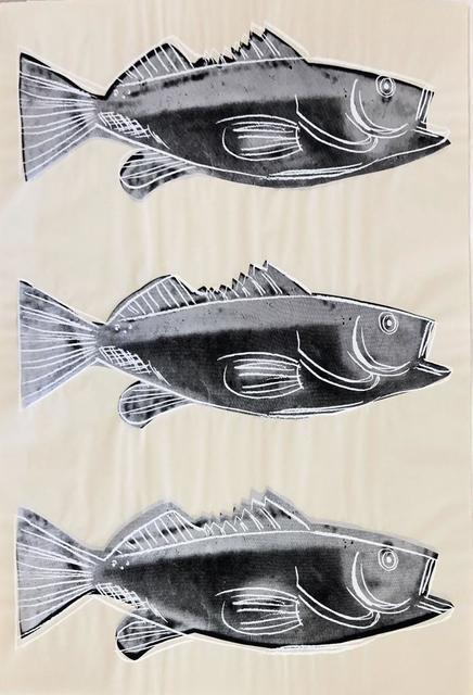 Andy Warhol, 'Fish, III.39', 1983, Print, Screenprint on wallpaper, Hamilton-Selway Fine Art Gallery Auction