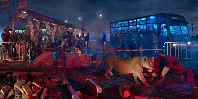 , 'Bus Station with Lioness,' 2015, Holden Luntz Gallery