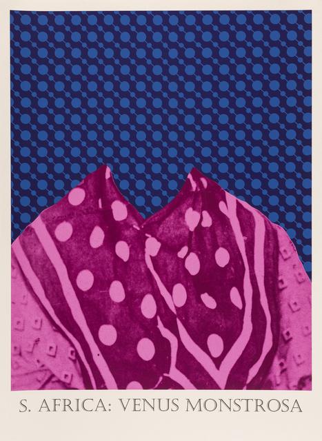 Matt Smith, 'S. Africa: Venus Monstrosa', 2019, Print, Silkscreen Print on Handmade Indian Cotton Paper, Cynthia Corbett Gallery