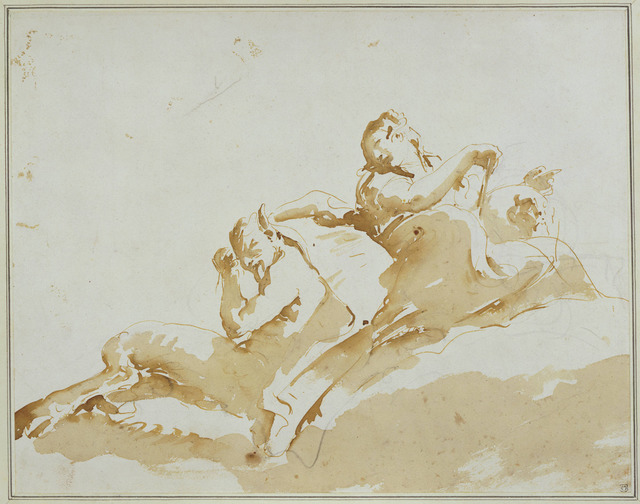 , 'Woman and Satyr,' ca. 1740, Princeton University Art Museum