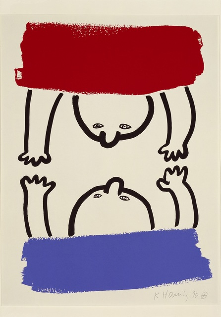 Keith Haring, 'The Story of Red and Blue', 1989, Outset Benefit Auction