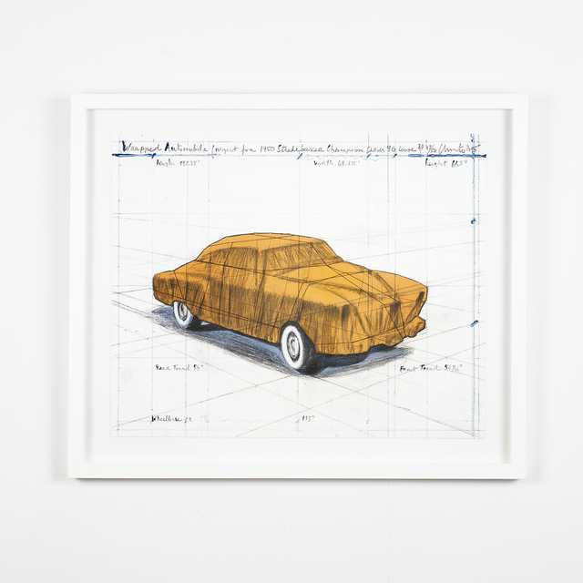 Christo, 'Wrapped Automobile (Project for 1950 Studebaker Champion Series 9G Coupe)', 2015, Independent Curators International (ICI) Benefit Auction