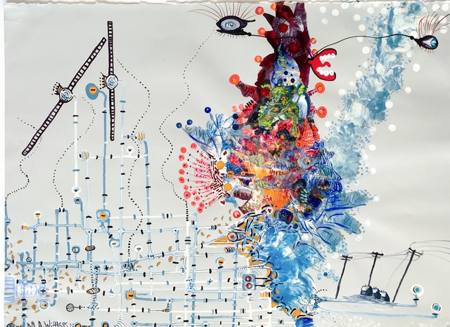 , 'Russian fireballs tossed under my skin,' 2016, HUE Gallery of Contemporary Art
