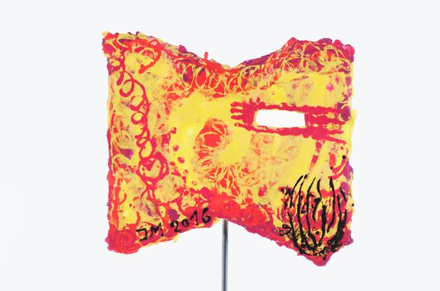 ", '""""DU KANNST MICH GERNHABEN"" - MASKE DE LARGE"",' 2016, Galerie Krinzinger"