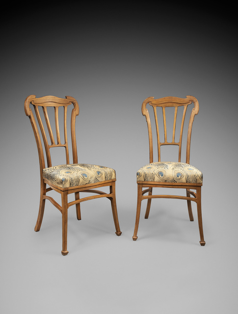 , 'Pair of chairs,' 1912-1913, Oscar Graf