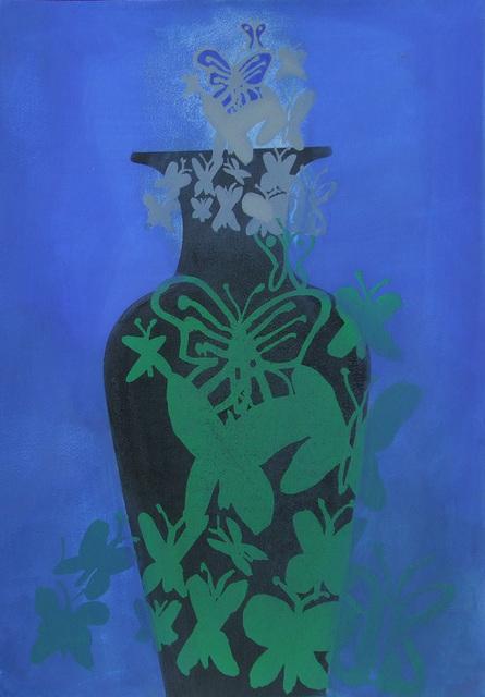 , 'ZSOLNAY-METAMORPHOSIS I, 2014-16 karton, akril | acrylic on cardboard, 100 x 70 cm,' 2014, VILTIN Gallery