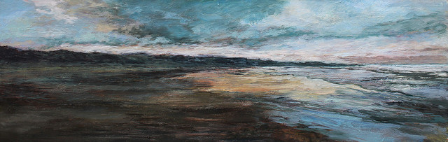 , 'Sunset Walk Along Bamburgh Beach Looking North ,' 2017, The Biscuit Factory