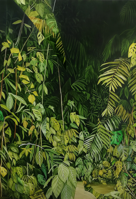 Lennart Rieder, 'Untitled (Jungle)', 2019, Painting, Oil on Linen, 532 Gallery Thomas Jaeckel