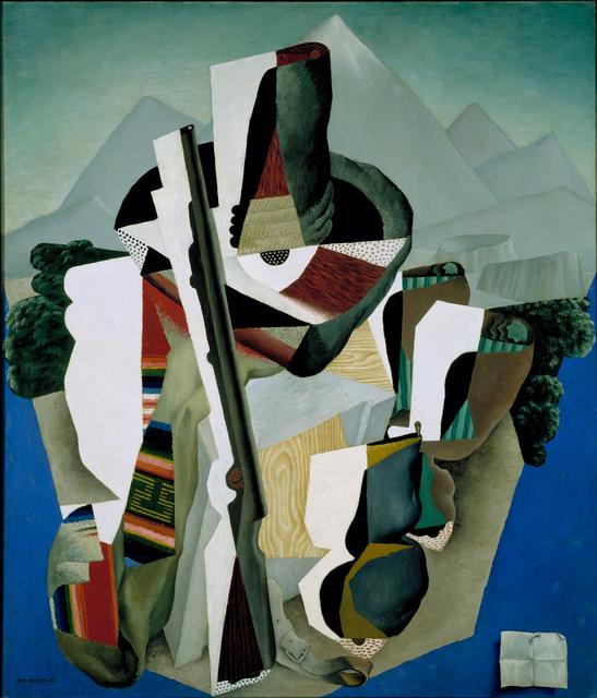 Diego Rivera, 'Paisaje zapatista', 1915, Painting, Museo Nacional de Arte (MUNAL)