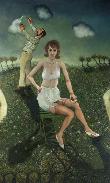 , 'Finishing the Portrait of Mary Green ,' 1965 and then reworked 2010, Chris Beetles Gallery