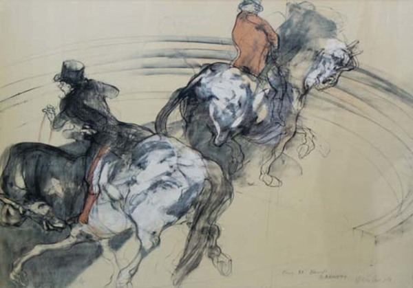 Claude Weisbuch, 'Two Horse Men (Dedicated to DB)', 1985, David Barnett Gallery