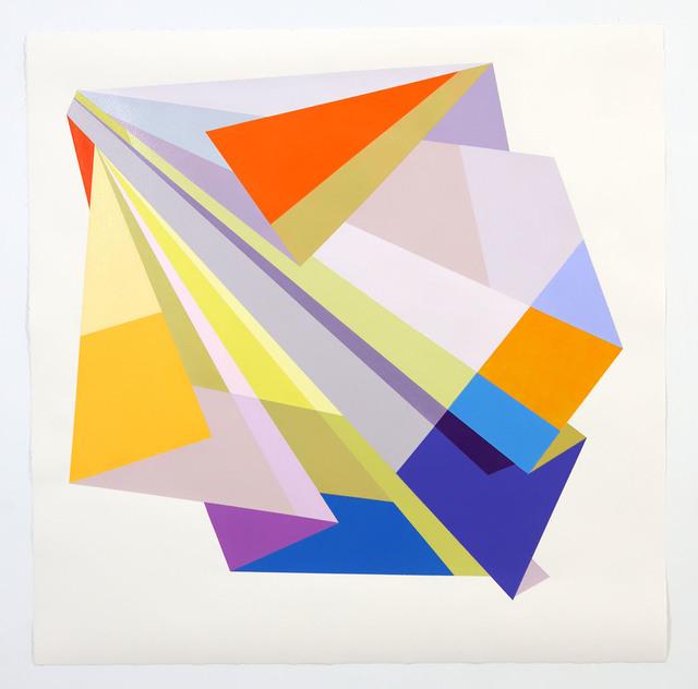 Rachel Hellmann, 'Through', 2020, Painting, Acrylic on paper, Ellen Miller Gallery