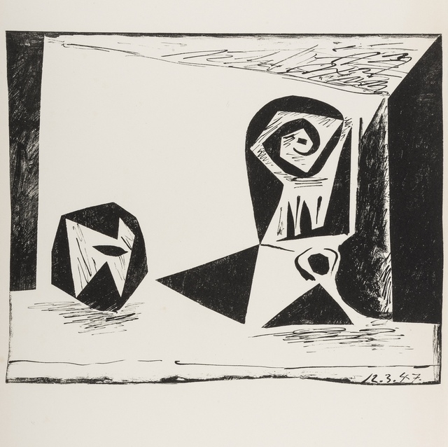Pablo Picasso, 'Composition au verre a pied (Bloch 431; Mourlot 77)', 1947, Forum Auctions