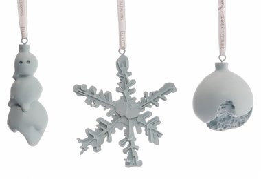 Group of Three Christmas Ornaments