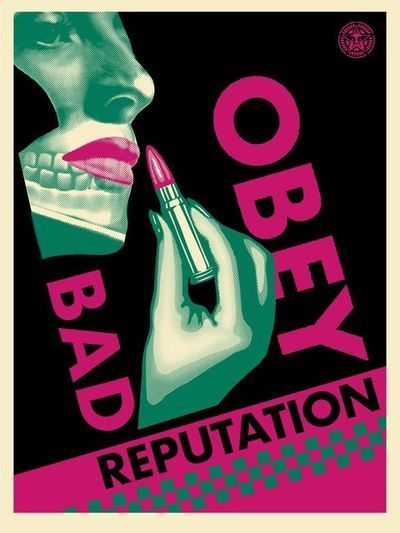 """Shepard Fairey, 'Bad Reputation """"Black""""', 2019, Print, Screen Print On Paper With Thick Black Inks, New Union Gallery"""