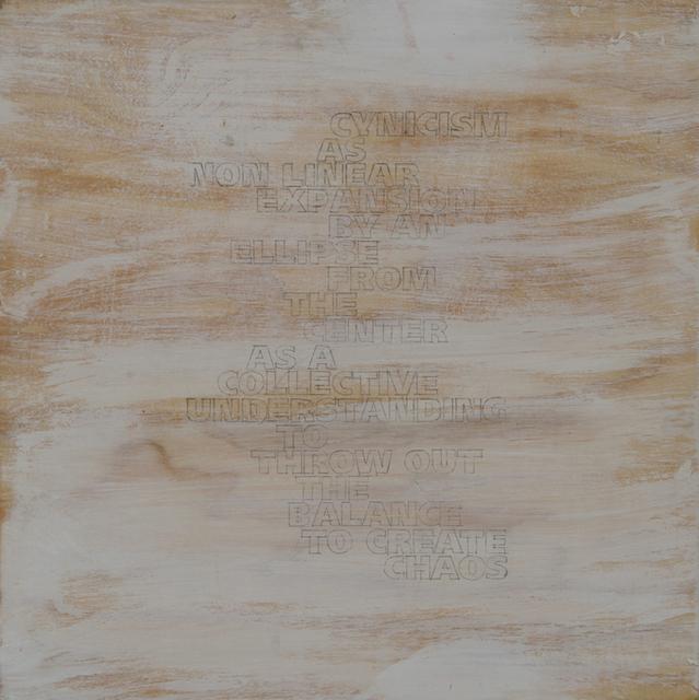 , 'Vom Stand Der Dinge,' 2003, Charles Nodrum Gallery