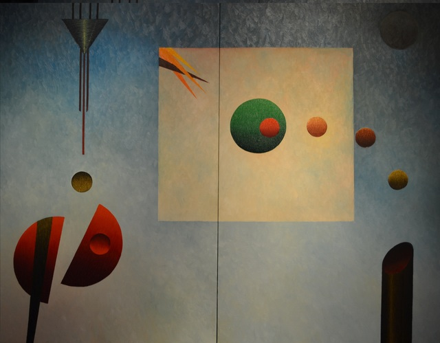 , 'Arrival to the Unknown Diptych,' 2002, Paul Fisher Gallery