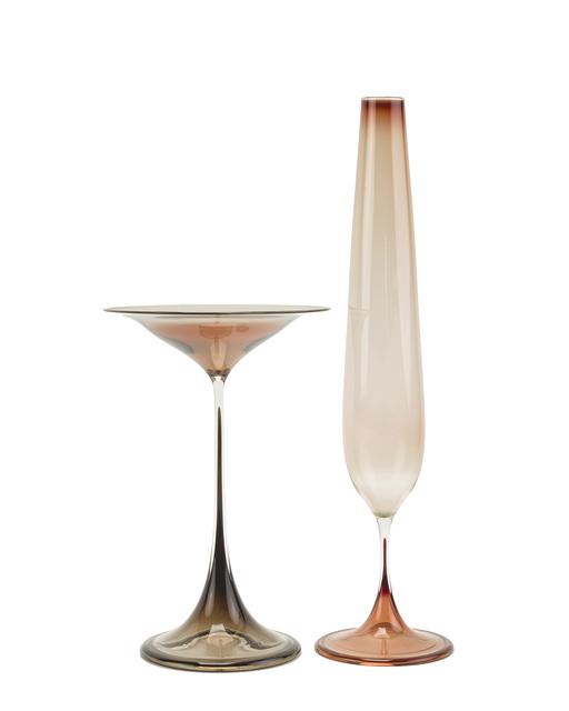 'Two Nils Landberg for Orrefers glass vases', John Moran Auctioneers