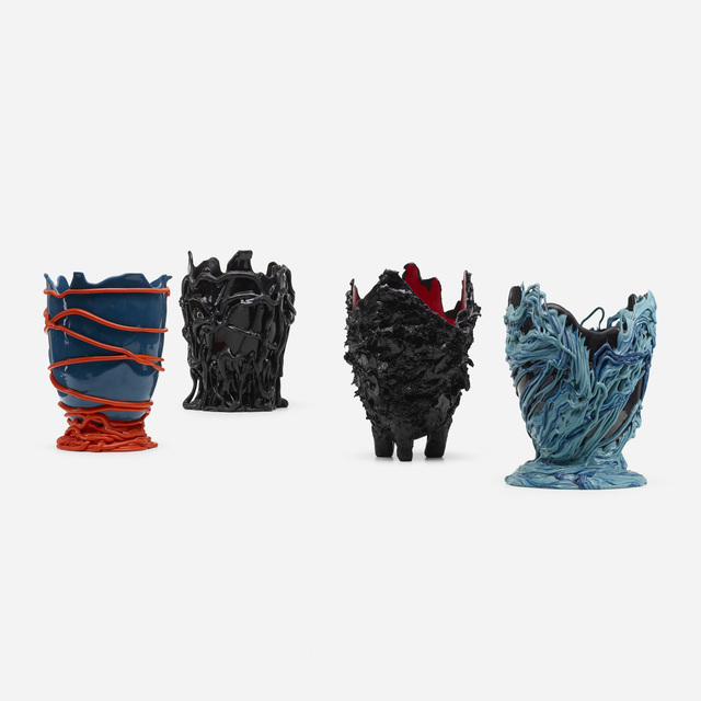 Gaetano Pesce, 'vases, set of four', c. 1995, 2006, 2007, Design/Decorative Art, Resin, Rago/Wright
