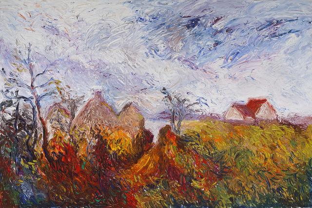 Hugues Claude Pissarro, 'Vincent? Alfred? ou Pierre-Auguste? - Boff…', 1990, Painting, Oil on canvas,  M.S. Rau