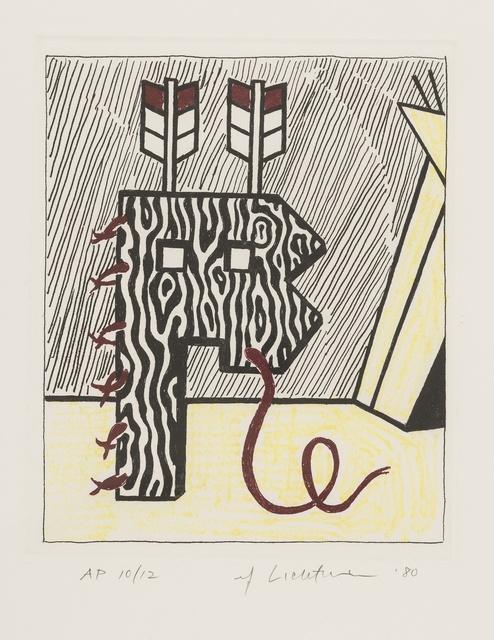 Roy Lichtenstein, 'Figure with Teepee (Corlett 167)', 1980, Forum Auctions