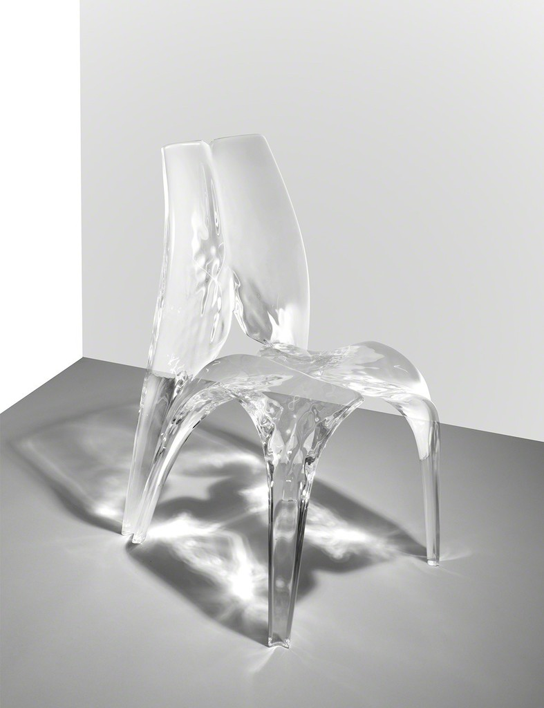Zaha hadid chair 39 liquid glacial 39 2015 available for for Zaha hadid liquid glacial
