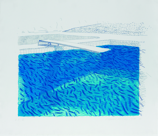 , 'Lithograph of water Made of Lines, Crayon and Two Blue Washe,' 1978, Sims Reed Gallery