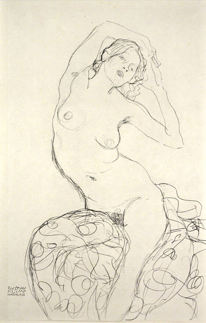 Gustav Klimt, 'Weiblicher Akt, sitzend. Female Nude Seated', 1919, Tanya Baxter Contemporary