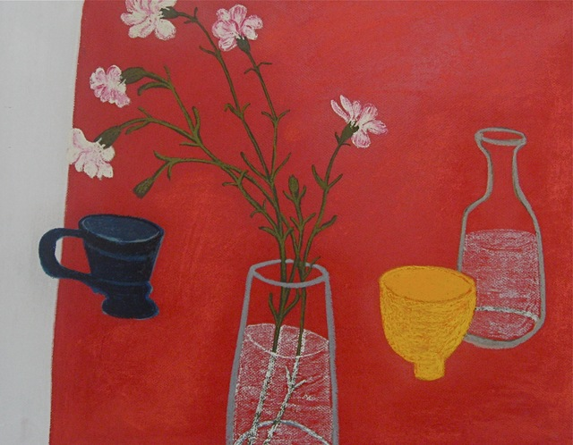 , 'Yellow Pot with Blue Cup,' 2012, Susan Eley Fine Art