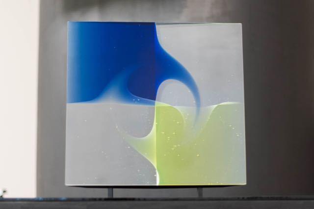 Peter Borkovics, 'Negyed kék - A quater Blue', 2020, Sculpture, Glass, Art Advisory Budapest