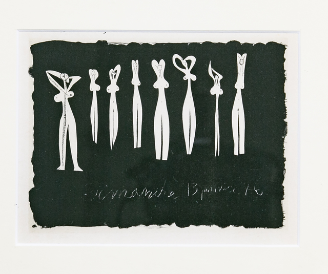 Pablo Picasso, 'Pablo Picasso,  Eight Silhouettes, Lithograph 1947, Framed', 1940-1950, White Cross