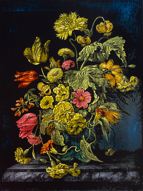 Logan Hicks, 'Still Life with Flowers VI - Homage to Rachel Ruysch', 2019, Taglialatella Galleries