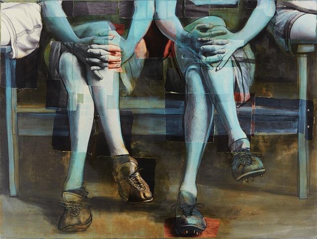 , 'Seated Sportsmen, Track Team 1910,' 2015, RJD Gallery