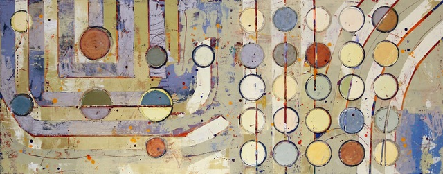 """, '""""Fibonacci 346"""" Abstract Grid-Based Depiction of Math Concept with Earthy Colors,' 2010-2017, Eisenhauer Gallery"""