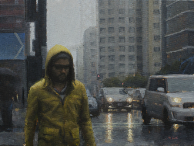 , 'Yellow Raincoat Study,' 2015, Abend Gallery