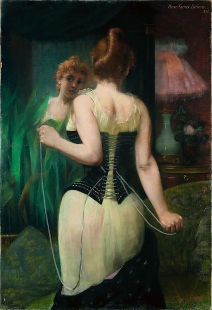 Pierre Carrier-Belleuse, 'Jeune femme ajustant son corset', 1893, Alon Zakaim Fine Art